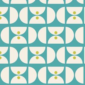 Geometric Martini Mod Teal