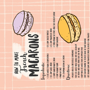 French Macarons Recipe Tea Towel