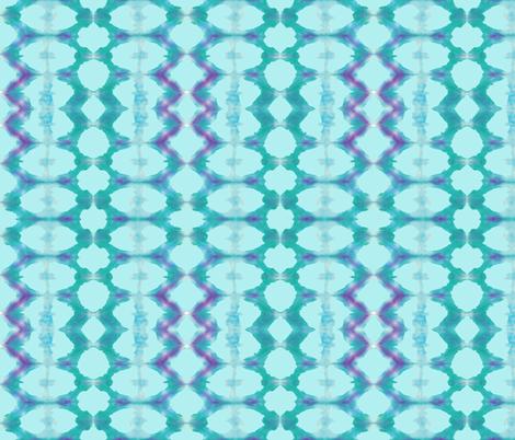 MARDI GRAS BLUE - SHEA fabric by chezshea_design on Spoonflower - custom fabric