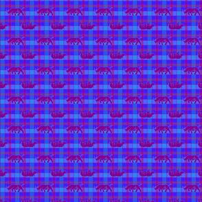 rhino blue purple plaid