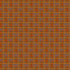 rhino orange gray plaid