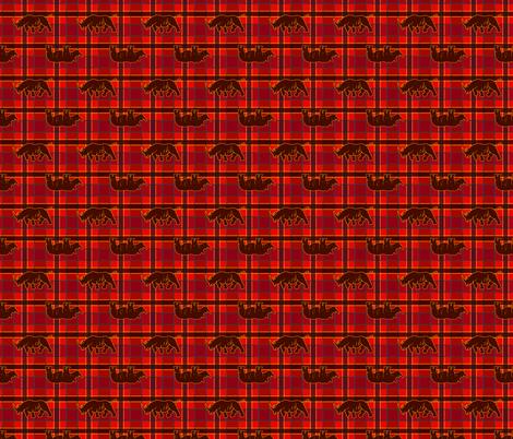 rhino red black plaid fabric by heretherebemonsters on Spoonflower - custom fabric