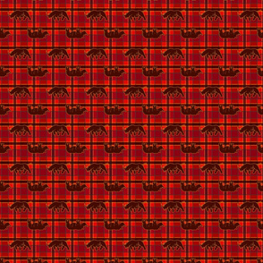 rhino red black plaid