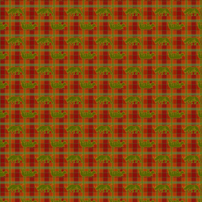 rhino red green gold plaid