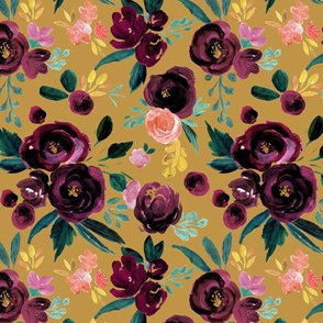 valentina plum rose on gold - medium