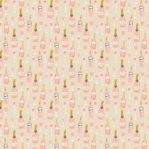 MINI rosé all day wine fabric brunch tan