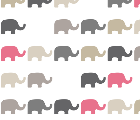 Missing Elephants-7 fabric by lulularch on Spoonflower - custom fabric