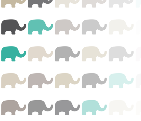 Fading Elephant-4 fabric by lulularch on Spoonflower - custom fabric