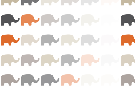 Fading Elephant-5 fabric by lulularch on Spoonflower - custom fabric