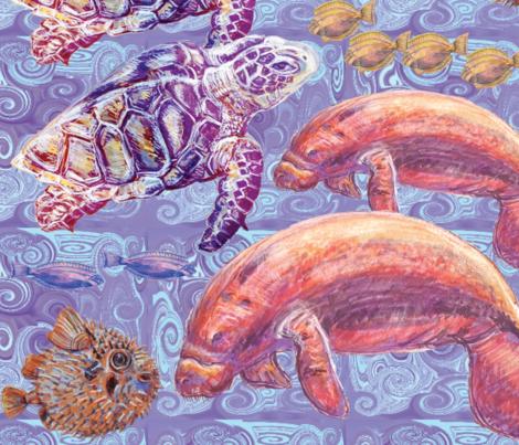 Under the Sea fabric by blueskitty on Spoonflower - custom fabric