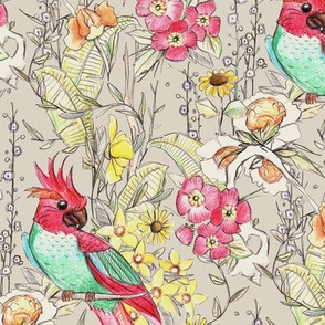 parrot chinoiserie beige