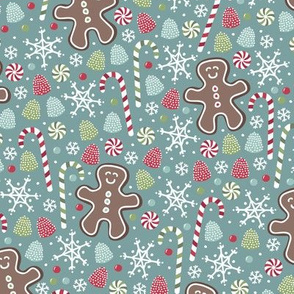 Jolly Gingerbread (Teal)