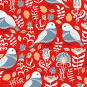 Folk Art Birds(XLarge)
