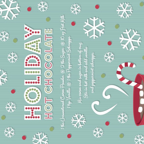 Holiday Hot Chocolate Recipe Tea Towel