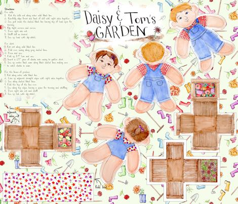 GardenDolls fabric by blairfully_made on Spoonflower - custom fabric