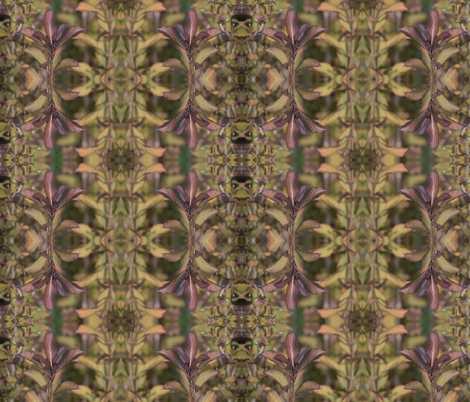 Abstract Fall Shrub Leaves 2 fabric by jabrown on Spoonflower - custom fabric