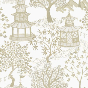 Pagoda Forest in Cream and Tans