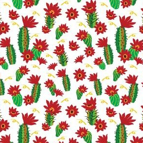 Catus Red Flowers and ribbins white-01
