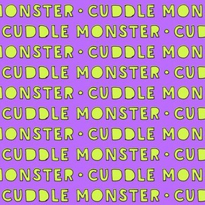 cuddle monster // purple and green C18BS