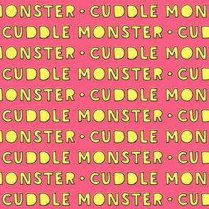 cuddle monster || yellow and pink C18BS