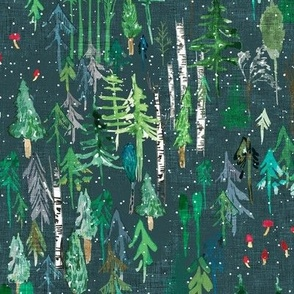 Noël Forest (teal) MED