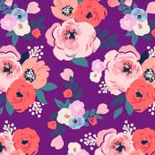 aurora floral - purple