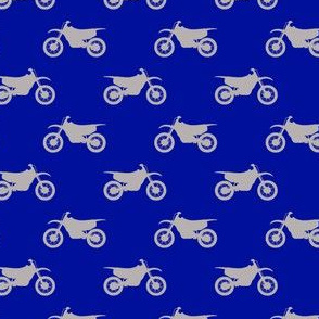 (small scale) motocross bike (grey on royal blue)