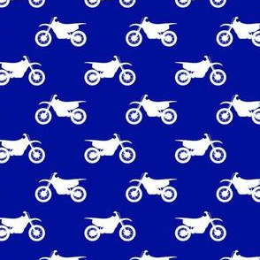 (small scale) motocross bike on royal blue C18BS