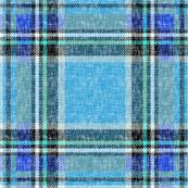 Blue + blue Stewart plaid linen-weave by Su_Gby Su_G