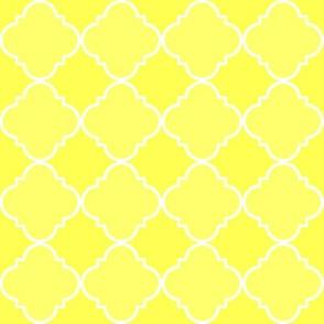 quatrefoil  corner yellow #ffff53