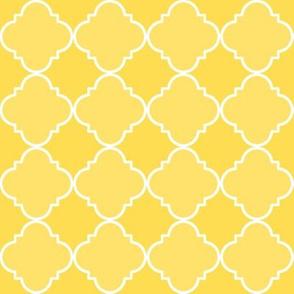 quatrefoil  corner yellow #ffdd53