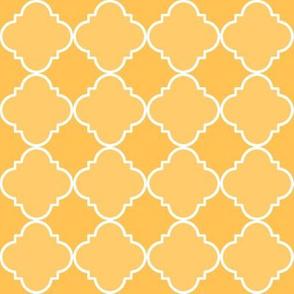 quatrefoil  corner orange #ffc253