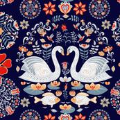 Swan Lake Folk Art(Large)