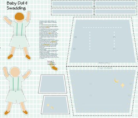 Baby Doll & Swaddling fabric by twilfley on Spoonflower - custom fabric
