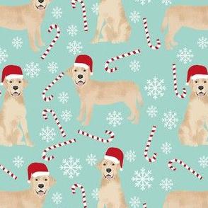 yellow lab fabric, yellow labrador fabric - yellow lab quilt fabric, yellow lab dog fabric, christmas fabric, christmas fabric by the yard, dog christmas - blue