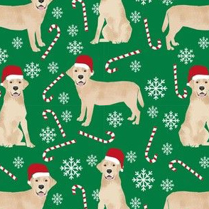 yellow lab fabric, yellow labrador fabric - yellow lab quilt fabric, yellow lab dog fabric, christmas fabric, christmas fabric by the yard, dog christmas - green