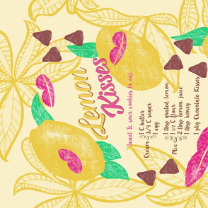 Lemon Kisses, Recipe Tea Towel