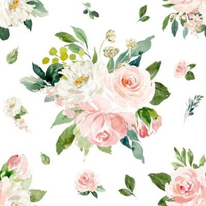"8"" Eternal Blush Florals // White"