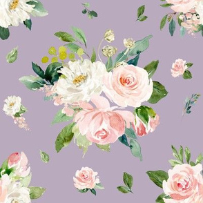 "8"" Eternal Blush Florals // London Purple"