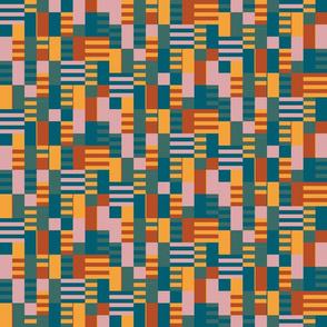Retro Brick Geometric