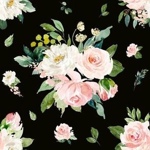 """8"""" Eternal Blush Florals // Black"""