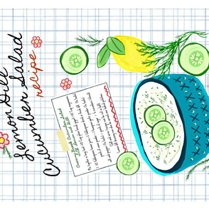 Cucumber Salad / tea towel recipe