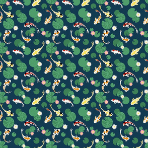 Koi pond seamless // small