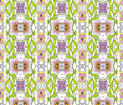 wildflowers ll fabric by unclemamma on Spoonflower - custom fabric