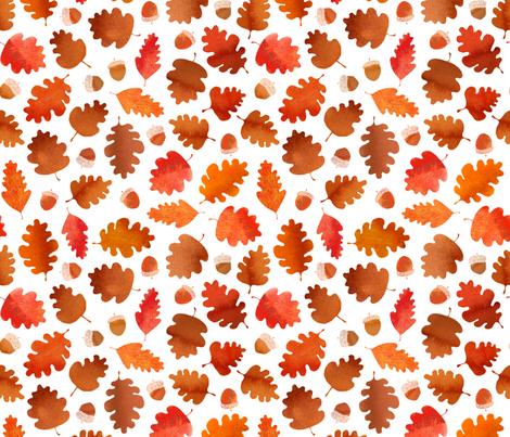 Autumn leaves  fabric by cat_hayward on Spoonflower - custom fabric