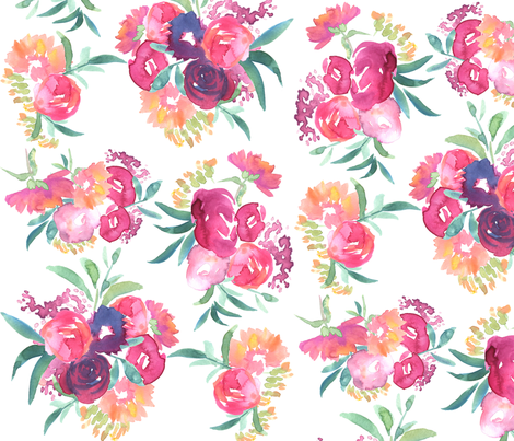 Sunday Brunch Floral fabric by michele_norris on Spoonflower - custom fabric