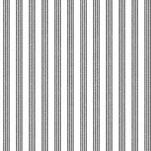 Quad Stripes - Charcoal Linen