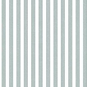 Quad Stripe - Dusty Green Linen
