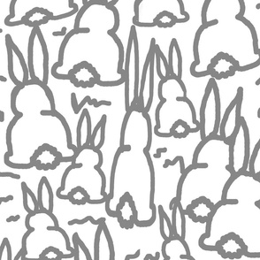 gray bunny fabric