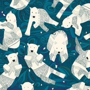 arctic polar bears blue tiny